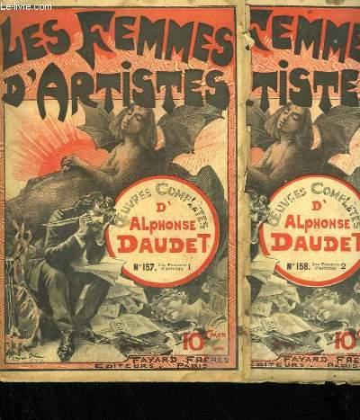 LOT DE 2 FASCICULES. LES FEMMES D'ARTISTES. OEUVRES COMPLETES D'ALPHONSE DAUDET. N° 157 AU N° 158.