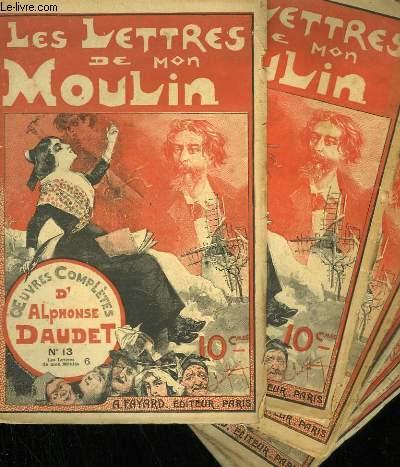 LOT DE 6 FASCICULES. LES LETTRES DE MON MOULIN. OEUVRES COMPLETES D'ALPHONSE DAUDET. N° 70 - N° 9 - N° 10 - N° 11 - N°13 - N°71.