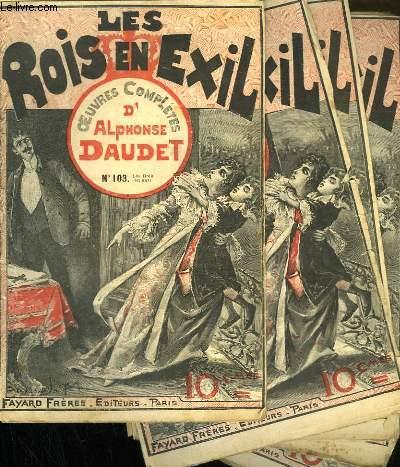 LOT DE 9 FASCICULES. LES ROIS EN EXIL.  OEUVRES COMPLETES D'ALPHONSE DAUDET. N°103 AU N°111.