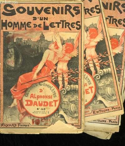 LOT DE 4 FASCICULES. SOUVENIRS D'UN HOMME DE LETTRES.  OEUVRES COMPLETES D'ALPHONSE DAUDET. N° 143  AU N°146.
