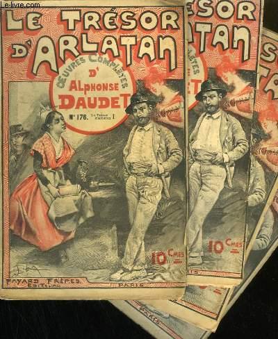 LOT DE 4 FASCICULES. LE TRESOR D'ARLATAN.  OEUVRES COMPLETES D'ALPHONSE DAUDET. N°176 A 177. 2 NUMEROS EN DOUBLE.