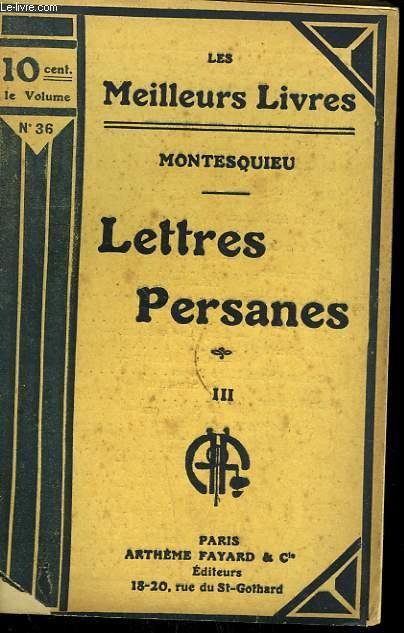 LETTRES PAYSANES TOME 3. COLLECTION : LES MEILLEURS LIVRES N° 36.