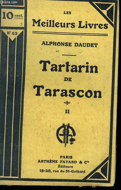 TARTARIN DE TARASCON. TOME 2. COLLECTION : LES MEILLEURS LIVRES N° 63.