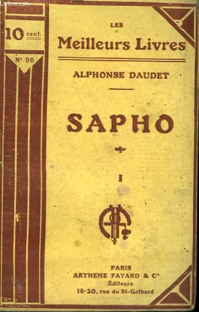 SAPHO. TOME 1. COLLECTION : LES MEILLEURS LIVRES N° 98.