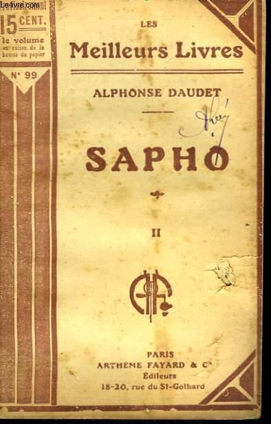 SAPHO. TOME 2. COLLECTION : LES MEILLEURS LIVRES N° 99.