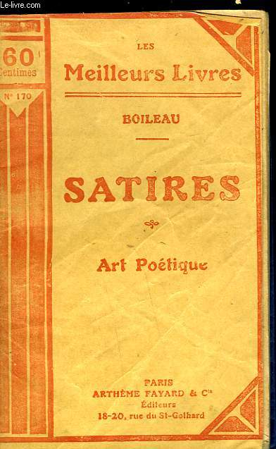 SATIRES - ART POETIQUE