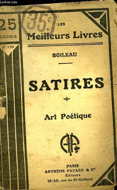 SATIRES - ART POETIQUE