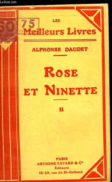 ROSE ET NINETTE - MOEURS DU JOUR - TOME 2