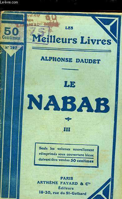 LE NABAB - MOEURS PARISIENNE - TOME 3