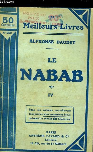 LE NABAB - MOEURS PARISIENNE - TOME 4