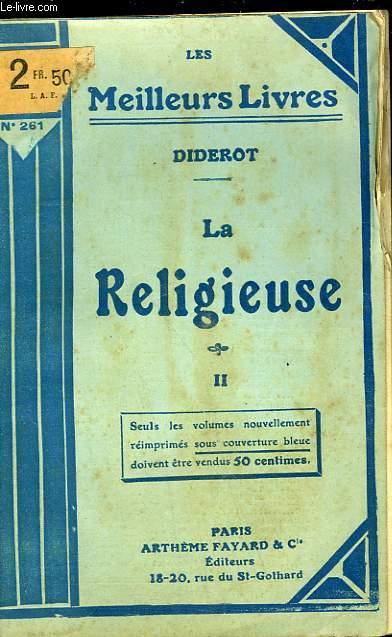 LA RELIGIEUSE  - TOME 2