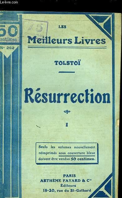 RESURRECTION - TOME 1
