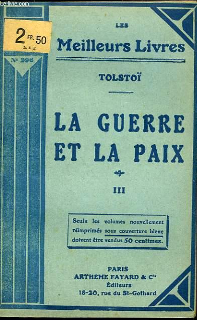 LA GUERRE ET LA PAIX - TOME 3