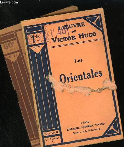 LES ORIENTALES - N° 35 et 36