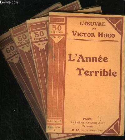 L'ANNEE TERRIBLE - N° 37 à 39 + 42