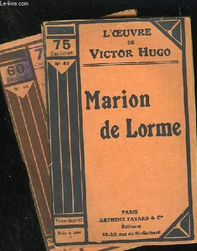 MARION DE LORME - N° 43 et 44