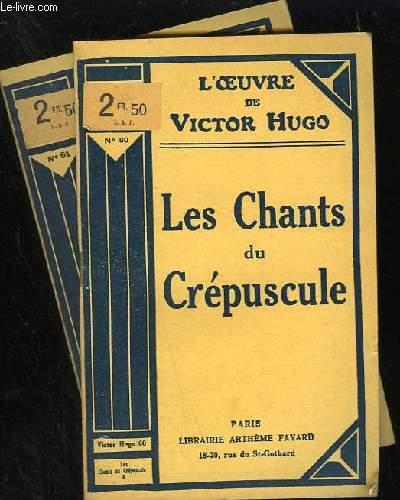 LES CHANTS DU CREPUSCULE - N° 60 ET 61