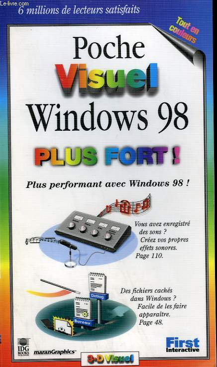 POCHE VISUEL WINDOWS 98 PLUS FORT !