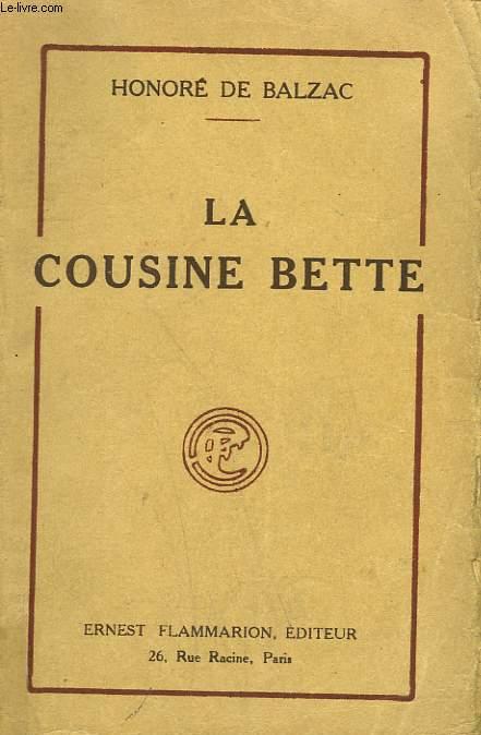 LA COUSINE BETTE.