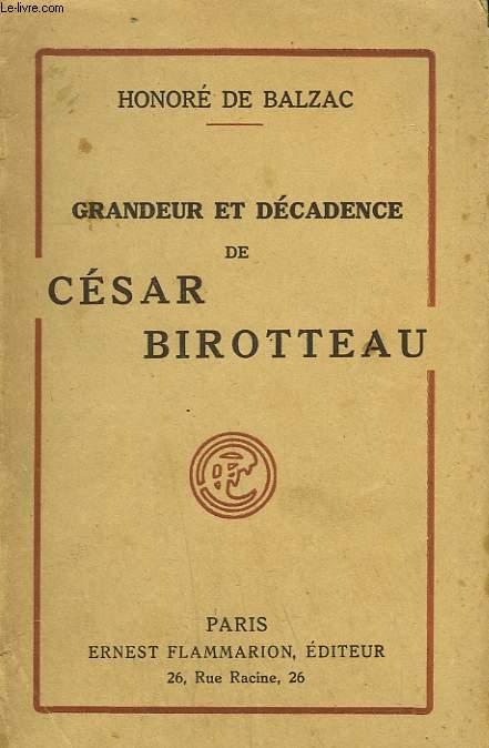 GRANDEUR ET DECADENCE DE CESAR BIROTTEAU.