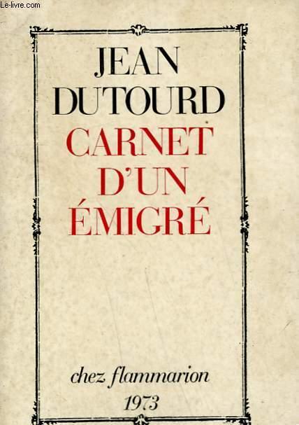 CARNET D'UN EMIGRE.