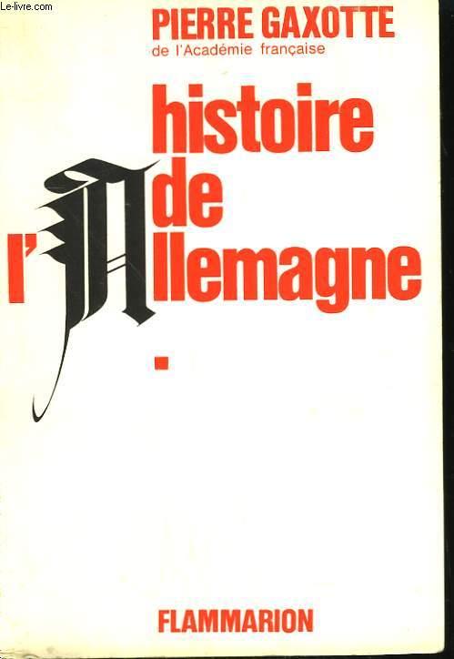 HISTOIRE DE L'ALLEMAGNE. TOME 1.