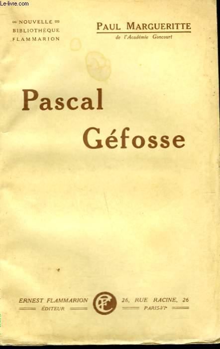 PASCAL GEFOSSE.