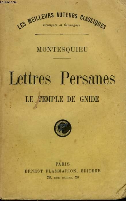 LETTRES PERSANES. LE TEMPLE DE GNIDE.