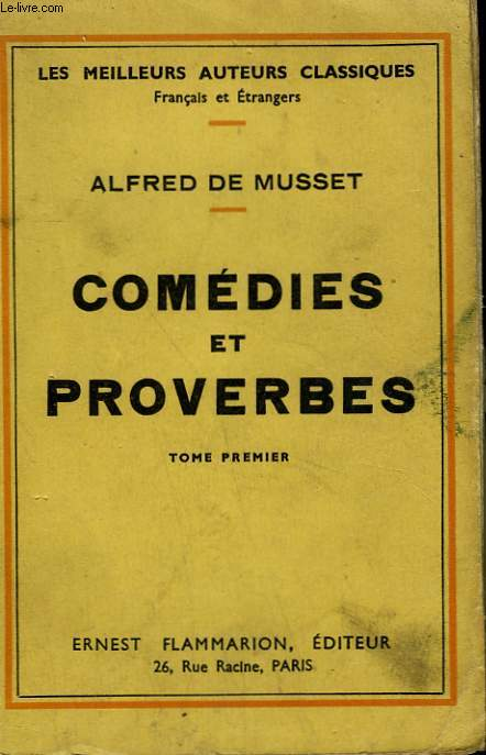 COMEDIES ET PROVERBES. TOME 1.