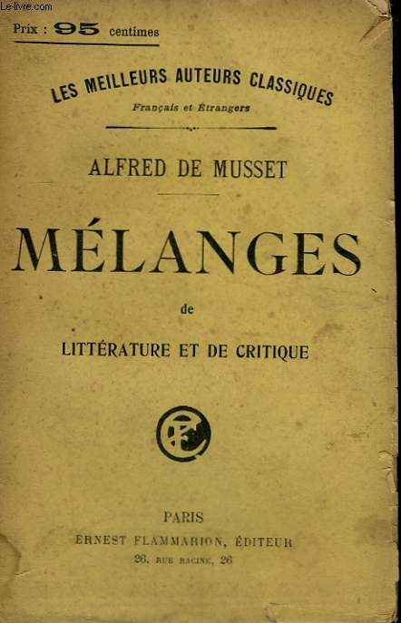 MELANGES DE LITTERATURE ET DE CRITIQUE.