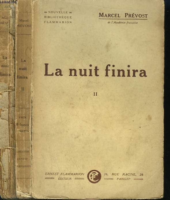 LA NUIT FINIRA. EN 2 TOMES.