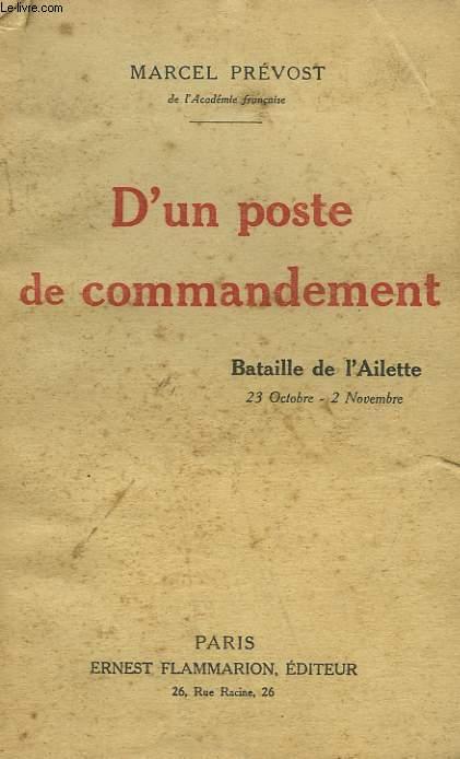 D'UN POSTE DE COMMANDEMENT.