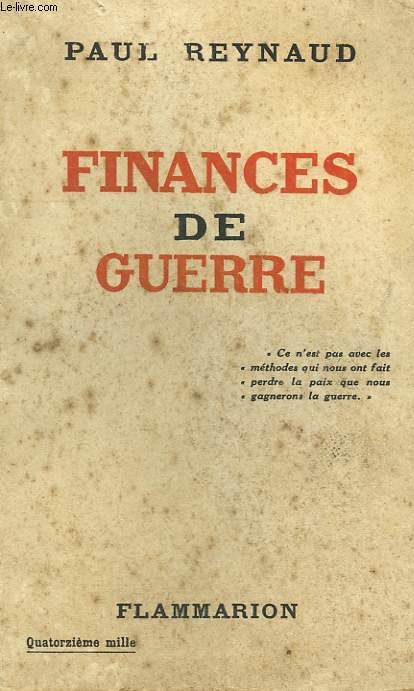 FINANCES DE GUERRE.