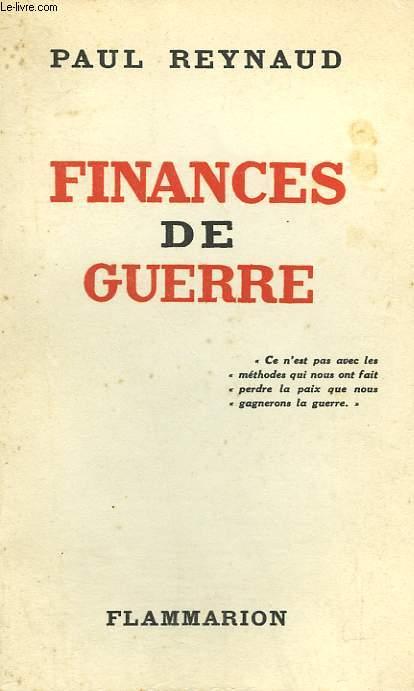 FINANCES DE GUERRE.