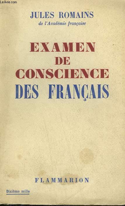 EXAMEN DE CONSCIENCE DES FRANCAIS.