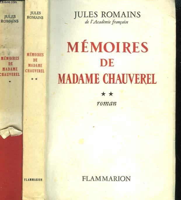 MEMOIRES DE MADAME CHAUVEREL. EN 2 TOMES.