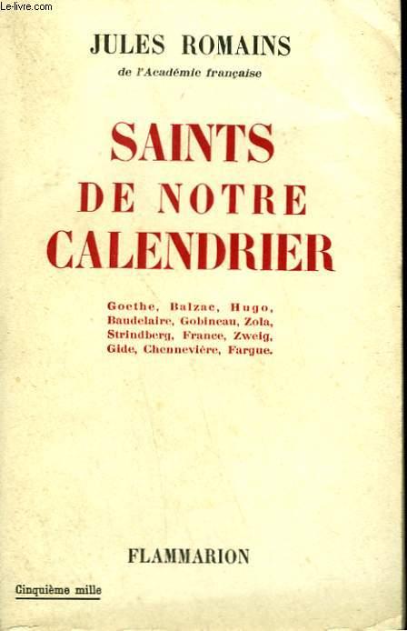 SAINTS DE NOTRE CALENDRIER.