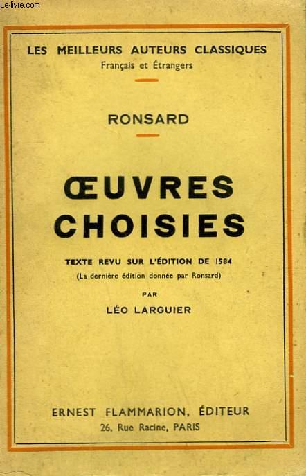 OEUVRES CHOISIES DE RONSARD.