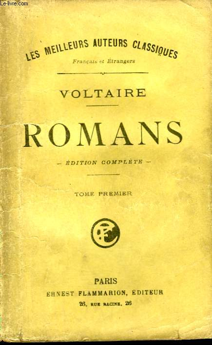 ROMANS. EDITION COMPLETE. TOME 1.