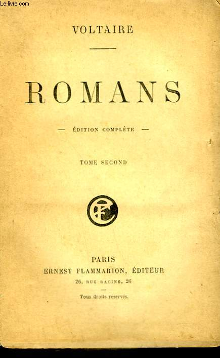 ROMANS. EDITION COMPLETE. TOME 2.