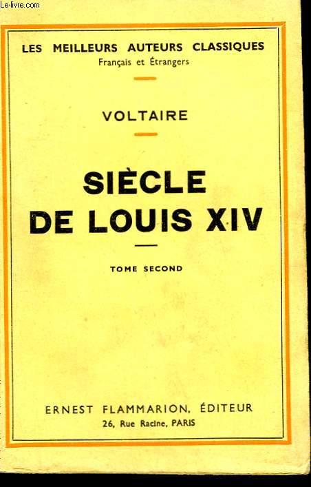 SIECLE DE LOUIS XIV. TOME 2.