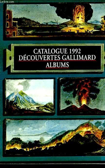 CATALOGUE 1992. DECOUVERTES GALLIMARD.