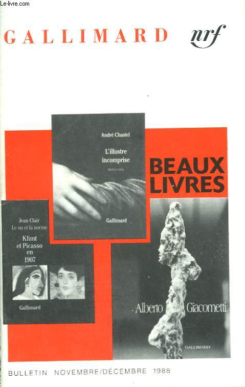 BEAUX LIVRES. BULLETIN N° 365. NOVEMBRE / DECEMBRE 1988.