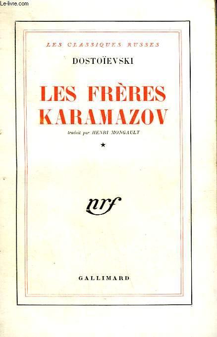 LES FRERES KARAMAZOV. TOME 1.