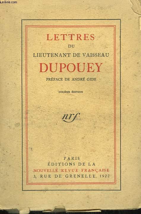 LETTRES DU LIEUTENANT DE VAISSEAU DUPOUEY.