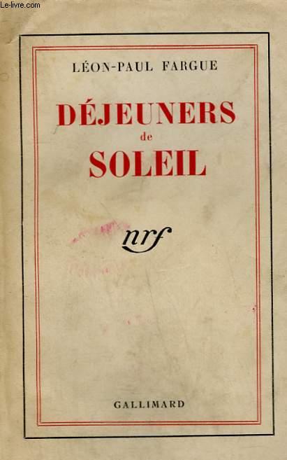 DEJEUNERS DE SOLEIL.