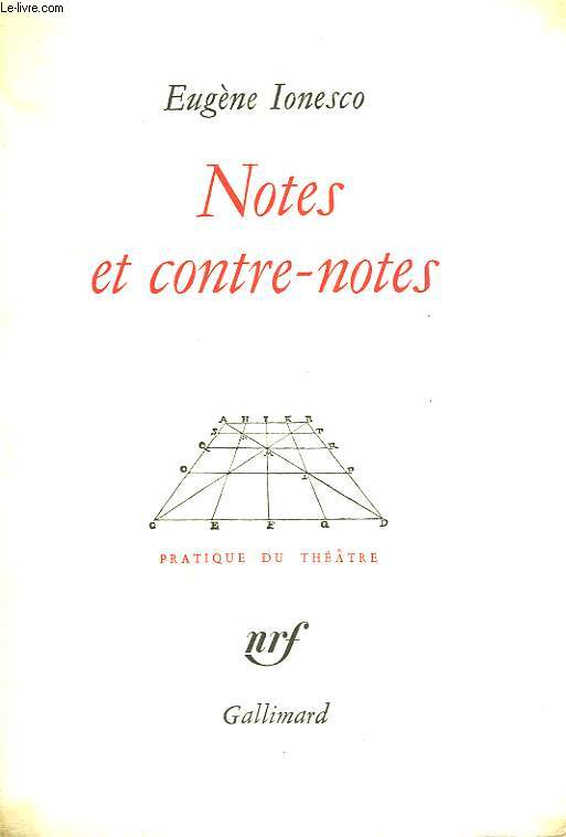 Dissertation ionesco notes contre notes