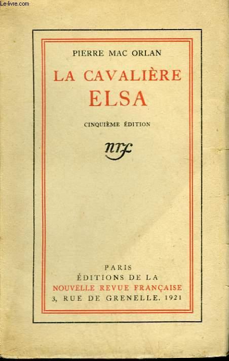 LA CAVALIERE ELSA.
