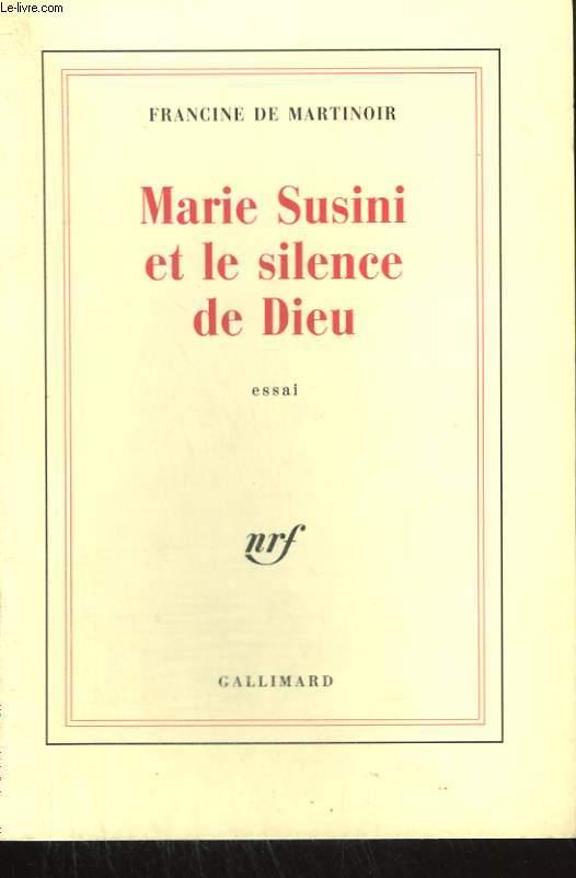 MARIE SUSINI ET LE SILENCE DE DIEU.
