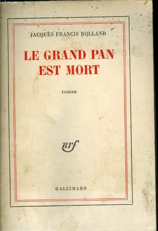LE GRAND PAN EST MORT.